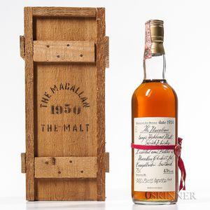 Macallan The Malt 30 Years Old 1950, 1 750ml bottle (owc)