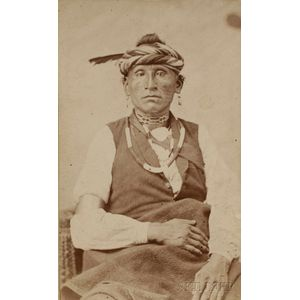 Carte de Visite of an Osage Indian