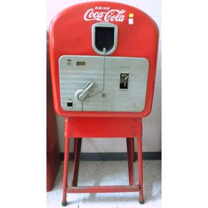 Coca-Cola Coin-op Bottle Vending Machine on Frame
