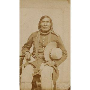 Carte de Visite of a Paiute Man