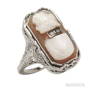 Art Deco 14kt Gold Swivel Ring