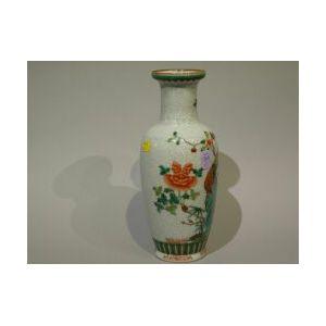 Chinese Enamel Decorated Porcelain Vase.