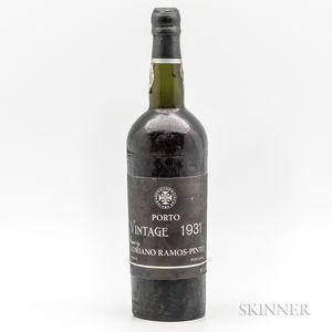 Ramos Pinto Port 1931, 1 bottle
