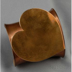 Large Copper and Bronze Cuff, Claire Falkenstein