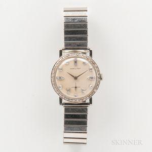 Hamilton 14kt White Gold and Diamond Wristwatch