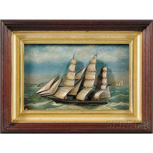 Small Framed Diorama of the Ship ERIE
