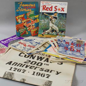 Group of Boston Sports Ephemera