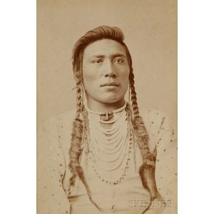 "Cabinet Card of ""Medicine Man"" by Goff"