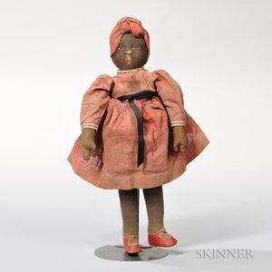 """Black """"Babyland Rag"""" Doll"""
