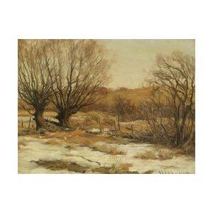 Francis Henry Richardson (American, 1859-1937)  Open Pasture, Winter