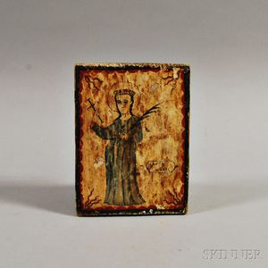 New Mexican Polychrome Wood Retablo
