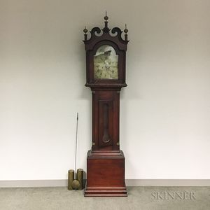 Stained Walnut English Long Case Clock