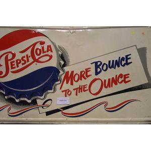 Three Vintage Pressed Metal Beverage Advertising Signs