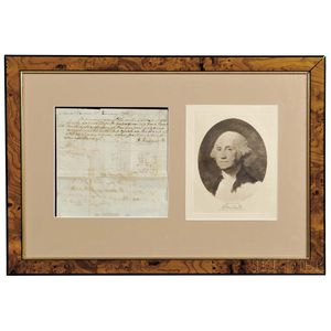 Washington, George (1732-1799) Autograph Document, Mount Vernon, 15 January 1798.