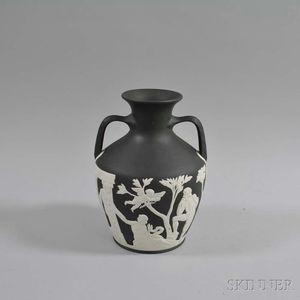 Modern Wedgwood Black Jasper Portland Vase