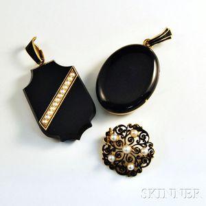 Three Pieces of Victorian Jewelry