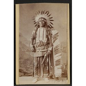 Carte de Visite of an Ute Chief