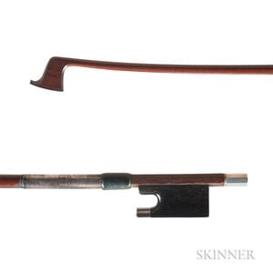 English Silver-mounted Viola Bow, Edgar Bishop for W.E. Hill & Sons