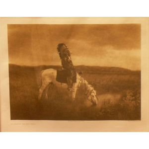 Framed Photogravuer Entitled Oasis in the Bad Lands After Edward Curtis (American, 1868-1952).