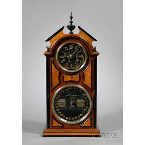 No. 8 Shelf Library Clock by Ithaca Calendar Clock Company