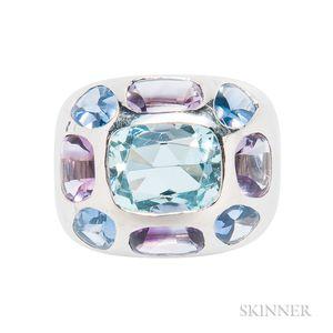 18kt White Gold Gem-set Ring, Chanel