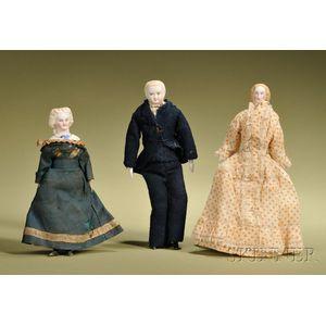 Three Dollhouse Dolls