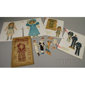 Group of Sheets of Paper Dolls