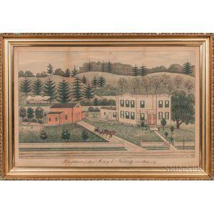 Fritz G. Vogt (New York, 1842-1900)      Residence of Mrs. Mary E. Failing. Fort Plain, N.Y.