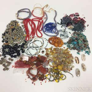 Large Group of Vintage and Trade Beads