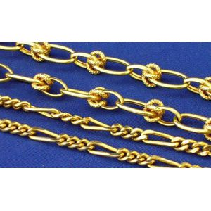 18kt and 14kt Gold Link Chains.