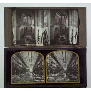 Four Stereoscopic Glass Positives