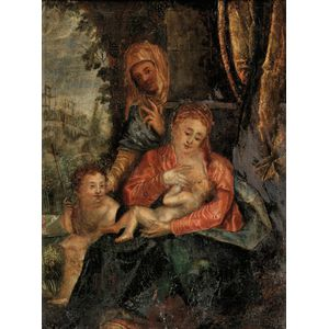 German School, 19th Century      The Virgin and Child with John the Baptist and St. Anne