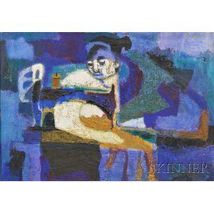 Ted Egri (American, 1913-2010)      Sewing