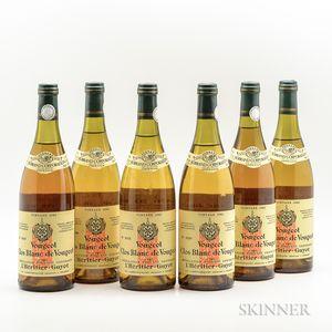 LHeritier Guyot Clos Vougeot Blanc 1982, 6 bottles