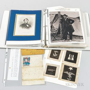 Civil War Documents, Letters, and Naval Insignia