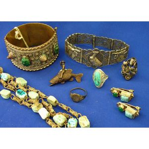 Group of Egyptian Themed and Scarab Jewelry.