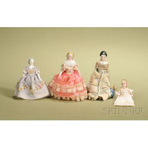 Four Dollhouse Dolls