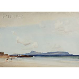 William Russell Flint (Scottish, 1880-1969)      View of Eigg