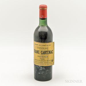 Chateau Brane Cantenac 1966, 1 bottle