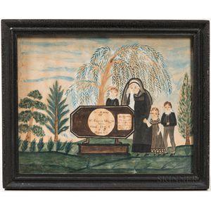 Watercolor Memorial Picture for Stephen Wiggin