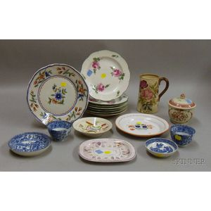 Approximately Seventeen Pieces of Assorted Ceramic Tableware
