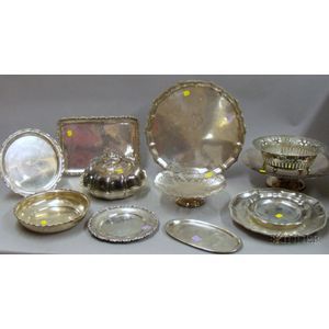 Twelve Silver and Silver Plated Serving Dishes