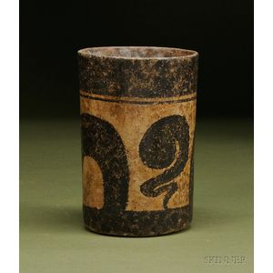 Pre-Columbian Painted Cylinder