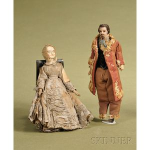 Two Small Dolls