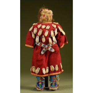 Plains Indian Beaded Hide and Cloth Doll