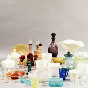 Approximately Thirty-six Glass Tableware Items