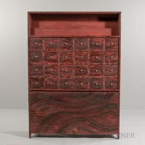 Grain-painted Apothecary Cabinet