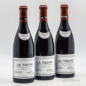 Domaine de la Romanee Conti La Tache 2010, 3 bottles