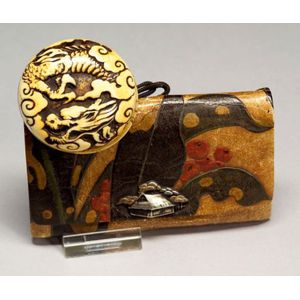 Ivory Netsuke and Tobacco Pouch