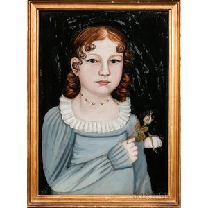 Benjamin Greenleaf (Massachusetts/New Hampshire, 1769-1821)      Portrait of Mary Ann Cushing Nichols
